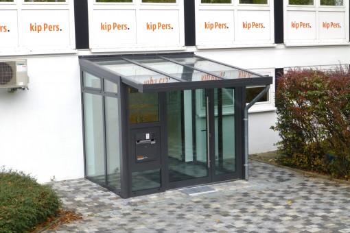 Aluminium-Wintergarten als Eingangsbereich
